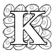 Letter K Words Coloring Page For Kids Bulk Color
