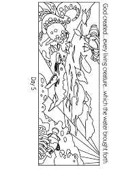 Creation Coloring Pages In Day Five