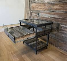 The Jewelry Cases Are Made Out Of Reclaimed Cedar Wood Glass And Rustic Steel With A Secret Pull Display Shelf