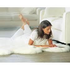 lammfell teppich natur weisses deko schaffell wohnzimmer