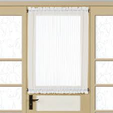 Striped Sheer Curtain Panels by Monte Carlo Sheer Voile Short Door Panel