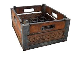 Cute Vintage Wooden Milk Crate Ebth In Crates