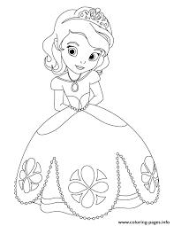 Print Cute Princess Sofia Disney Coloring Pages