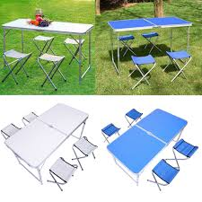 FOLDING PORTABLE CAMPING PICNIC PARTY DINING TABLE WITH 4 CHAIRS ... Kids Ding Table And Chair Set Fniture Nantucket Coaster Stanton Contemporary Value City China White Nordic Event Party Oval Shape Pedestal For 6 With Brown Painted Also Teak Alinium Folding Portable Camping Pnic Party Ding Table With 4 Johoo Comfortable Plastic Restaurant The Table That Grows To Match The Party Ikea Amazoncom Miniature Tea Colctible Whosale Tables Suppliers Aliba Traditional V Modern Room Sets Expand Tempo And Chairs Granby Merlot 7 Pc Rectangle Woodback