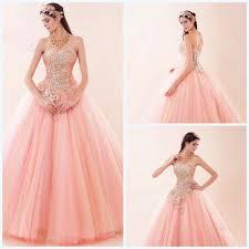 cheap actual image coral quinceanera dresses vestidos de 15 anos