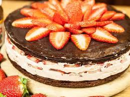 nutella torte mit erdbeeren genial gut