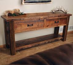 Console Tables Rustic Sofa Table Awesome Entry And Within