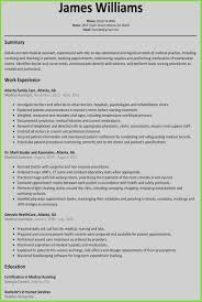 New Resume Sample Medical Assistant Examples