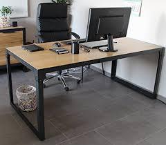 bureau design industriel bureau table loft design industriel 180 cm en chêne naturel table