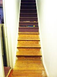 Stair Carpet Grippers by Diy Stair Runner Little Green Notebook