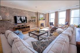 Tuscan Style Loft Transitional Living Room New York