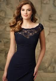 beautiful lace and chiffon morilee bridesmaid dress with illusion
