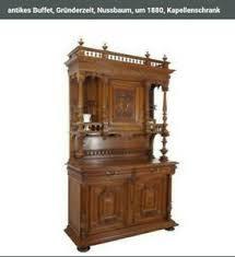 details zu buffet gründerzeit kapellenschrank nussbaum wohnzimmer möbel esszimmer antik