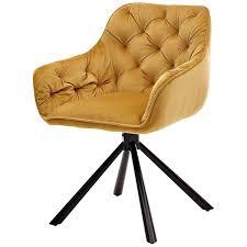 sitzgruppe esszimmer 7 tlg den haag 119 4 6 personen ausziehtisch white glas armlehnenstühle senfgelb mit chesterfield steppung