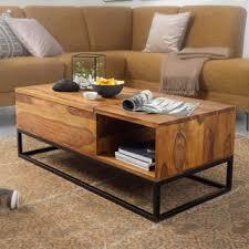 wohnling couchtisch sheesham massivholz 110x40x50 cm