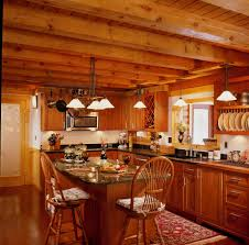 Log Cabin Kitchen Decorating Ideas by Interior Casual Log Cabin Homes Interior Kitchen Decoration Using