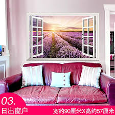 Wall Stickers Wallpapers 3D Stereo Landscape Windows Emulation Lined Beach Flower Truck 03 Amazoncouk Kitchen Home