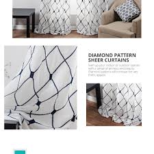 Geometric Pattern Sheer Curtains by Aliexpress Com Buy Topfinel Geometric Pattern Design Embroidered