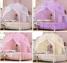 Hight QC Bed Canopy Mosquito Net Tent For Twin Queen Small King