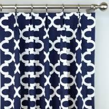 Moroccan Lattice Curtain Panels by Quatrefoil Lattice Curtain Panels Navy Blue And White Trellis