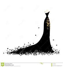 Black Dress clipart hanger clipart 7