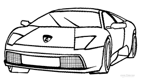 Lamborghini Printable Coloring Pages