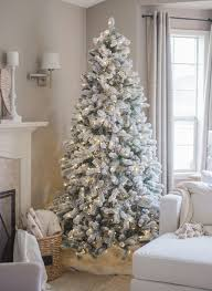 7 Ft White Pre Lit Christmas Tree by Christmas White Pre Litistmas Tree Clearance Blue Lights Trees
