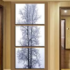 Vertical Wall Art Large Modern Oil Painting The Of Snow And Trees Canvas Home Decoration Picture Printed