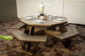 finch poly octagon picnic table from dutchcrafters amish furniture