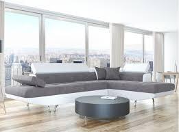 canapé d angle commandeur canapé d angle droit convertible avec coffre blanc gris