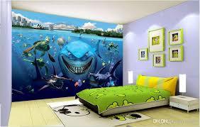 großhandel 3d wallpaper benutzerdefinierte foto sea world aquarium hai fisch hintergrund wand home dekoration 3d wandbilder tapete für wände 3 d