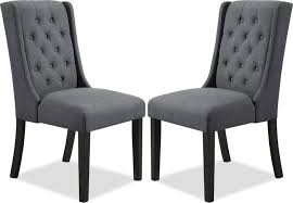 York Wingback Dining Chair, Set Of 2 – Grey | The Brick Fniture Cheap Parsons Chairs For Match Your Ding Table Extravagant Tufted Wingback Chair And Living What Is Upholstery And How Do You Choose The Best Fabric For Fabulous French Style Settee Bench Modern Wing Back Recliner Rocker Recliners Lazboy Room Sale Home Design Ideas Marley Navy Blue By Spectra H195218 Bernhardt Cool High Back Terrific New Formal Pictures Of Literarywondrous With Arms