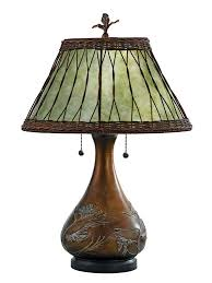 Highland Table Lamp With Wicker Mica Shade