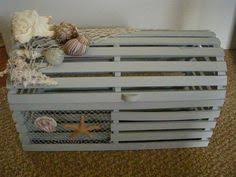 vintage reclaimed wood maine lobster trap custom card box for