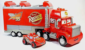 CARS MACK TRUCK Hauler W LIGHTNING McQUEEN Car Mega Bloks RUST-EZE ... Cars 2 Mack And Wally Hauler Exclusive Semi Trucks Disney Pixar Truck Paulmartstore Buy Disneypixar Large Scale Online At Low Toys In India 2013 Deluxe Mattel Diecast 3 Mack Truck With Trailer Jada 124 Walmart Exclusve Ebay World Of Prsentation Du Personnage Mac Rusteze Lightning Mcqueen Carry Case Big 24 Diecasts Tomica Semi Cab Bachelor Pad Playset Transporter Diecast Vehicle 155