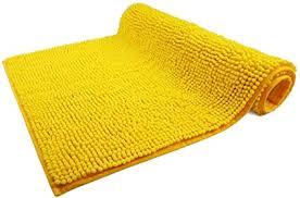 wohndirect badematte gelb badezimmerteppich zum set kombinierbar rutschfest waschbar badvorleger wc garnitur badteppich 70 x 120 cm