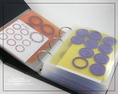 rubber clear stamp index in a 3 ring binder organizing stamps