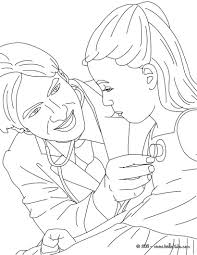 Kid With Doctor Coloring Page