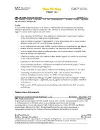 Confortable Unsw Careers Resume Sample About Sap Fico