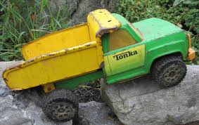 Green Metal Tonka Dump Truck, Toy Dump Trucks | Trucks Accessories ...