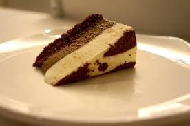 Triple Chocolate Mousse Cake Slice