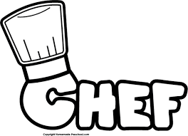 Chef Hat Chef Bw Clip Art
