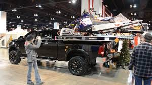 Twin Snowmobile Rack For Pick Up Trucks From Edge Sportman's Expo ... Diy Atv Lawnmwer Loading Ramps Youtube The Best Pickup Truck Ramp Ever Madramps And Utv Transport Made Easy Four Wheeler Ramps For Lifted Trucks Truck Pictures Quad Load Hauling The 4 Wheeler In Bed Polaris Forum 1956 Ford C500 Cab Auto Art Cool Pinterest Atvs More Safely With By Longrampscom Demstration Of Haulmaster Motorcycle Lift Ramp Loading A Made Easy Loadall V3 Short Sureweld Wheel Riser Front Wheels Ramp Champ