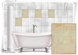 fliesenaufkleber fliesen aufkleber vintage nostalgie retro shabby chic rosa gold küche bad wc deko