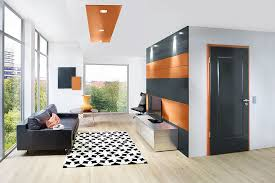 wohnraum wohnzimmer wandgestaltung paneele zarge tür