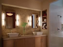 Modern Bathroom Sconces Lighting by Versatile Bathroom Light Fixtures Brushed Nickel For Your House