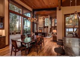 Mountain Modern Lodge Transitional Dining Room