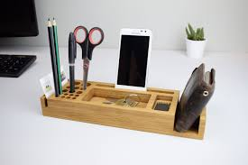 perfect wooden desk organizer tray box file sorter with decor