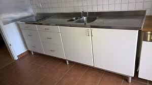 ikea küchen arbeitsbank edelstahl mit spüle kochfeld weiß