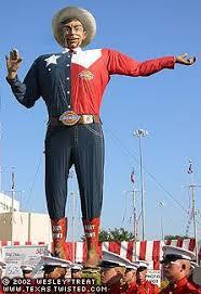 The Original Big Tex Before 2012 Fire Texas State Fair In Dallas